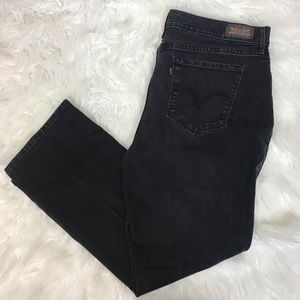 "LEVI'S faded black 11.5"" rise 505 straight leg"